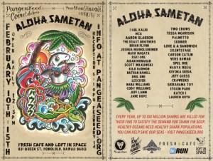 Aloha Sametan! Show flyer