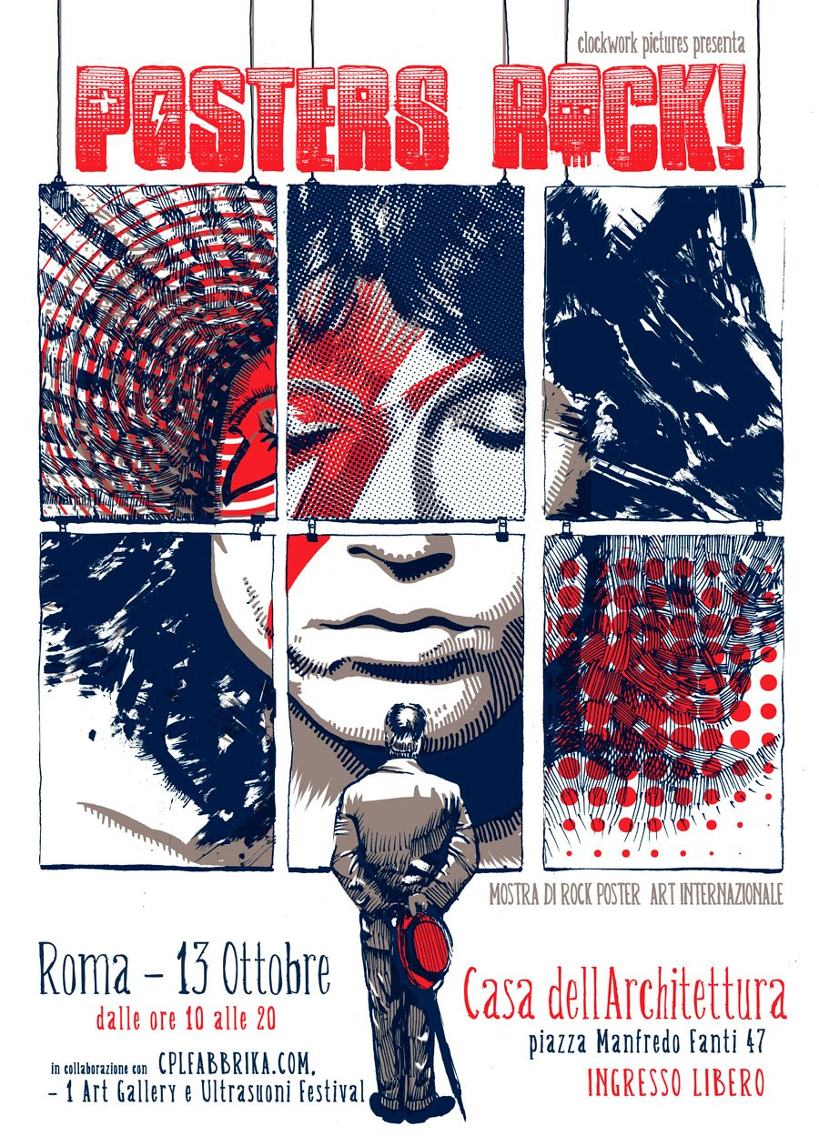 Posters Rock Art Exhibit In Rome